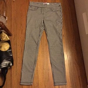 Houndstooth skinny pants small